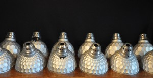 SILVERED GLASS SHADES (12)CR FM